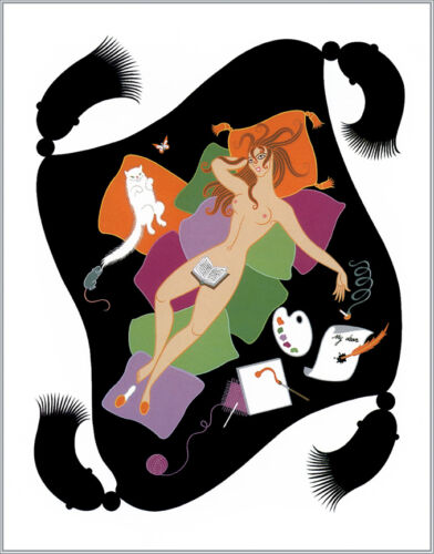 The Seven Deadly Sins, Sloth  by Erte  Giclee Canvas Print Repro