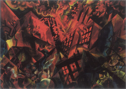 Explosion   by George Grosz  Giclee Canvas Print Repro