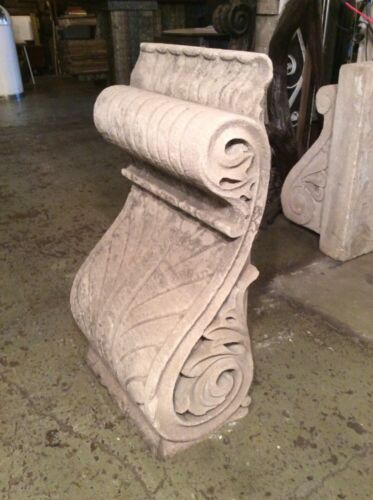 Large Antique Limestone Low Relief Corbel Architectural Salvage #8013