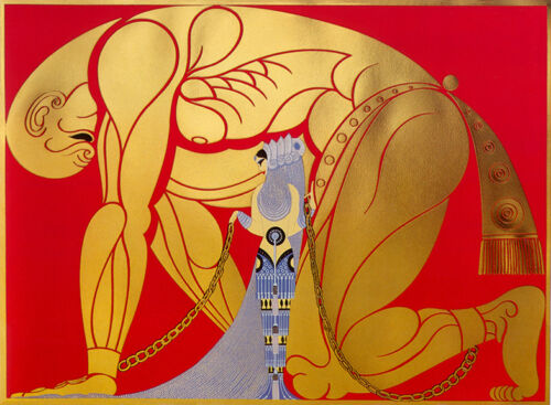 Samson and Delilah  by Erte   Giclee Canvas Print  Repro
