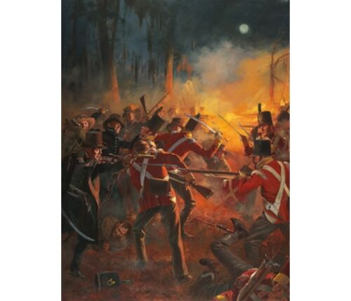 """""""The Night Battle Before Battle of New Orleans"""" Don Troiani Canvas Giclee"""