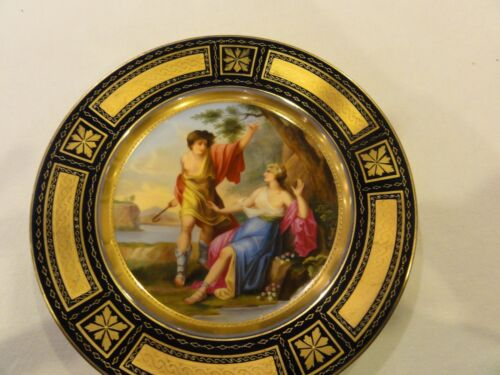Antique Magnificent Royal Vienna Plate of Apollo and Daphne signed Rieill