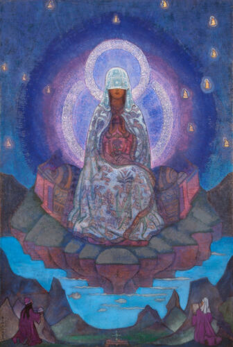 Mother of the World  by Nicholas Roerich  Giclee Canvas Print Repro