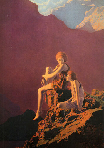 Contentment   by Maxfield Parrish   Paper Print Repro