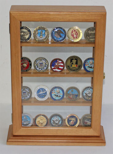 4 Shelves Military Challenge Coin Medal Pin Display Stand Case - Coin14-OAChallenge Coins - 74710