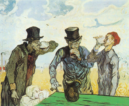 The Drinkers  by Vincent van Gogh  Giclee Canvas Print Repro