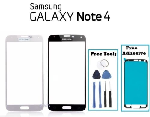 Premium Outer Front Glass Screen Replacement Frame For Samsung Galaxy Note 4