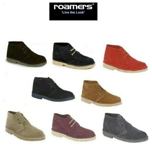 Desert Boots ROAMERS ORIGINAL Mens Ladies Suede Leather Lace-Up Ankle Size 3-15
