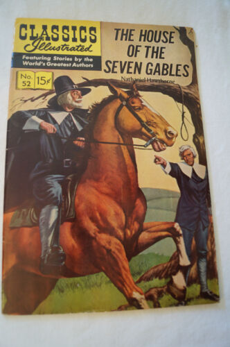 CLASSICS ILLUSTRATED VINTAGE COMIC - Nathaniel Hawthorne - House of 7 Gables