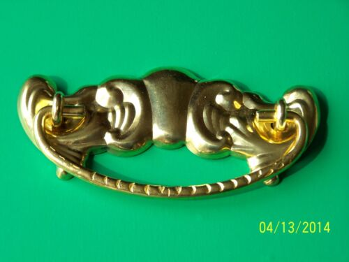 """ANTIQUE STYLE VICTORIAN DRAWER PULLS  FURNITURE PULL , 3"""" CC, SOLID BRASS"""