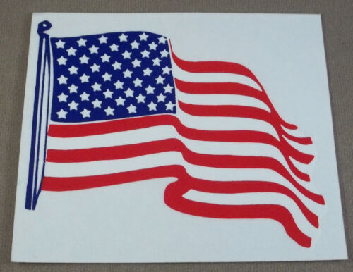 United States Of America Flag Decal - Sticker ( Waving Flag )Other Militaria (Date Unknown) - 66534