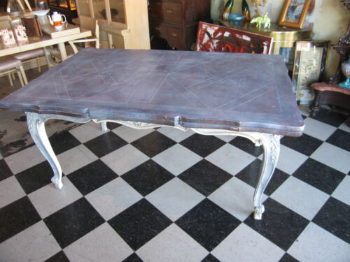 Karges Dining Room Refectory Table w/ Custom Distressed Shabby Finish