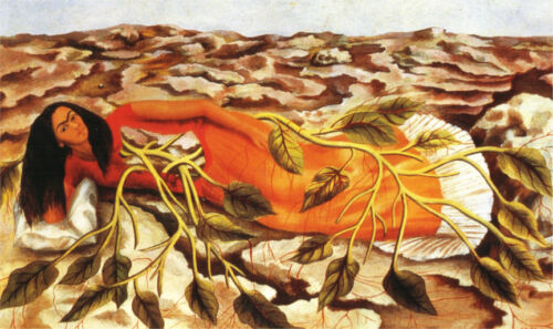 Roots  by Frida Kahlo  Giclee Canvas Print Repro