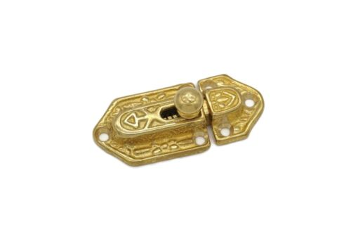 ANTIQUE STYLE VICTORIAN CABINET LATCH,  HUTCH, CORNER CUPBOARD, ORNATE BRASS