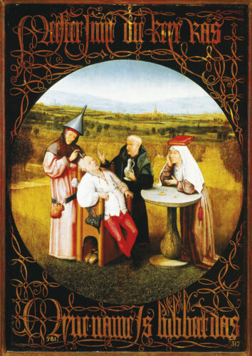H.Bosch - The Cure of Folly - Large A2 size 42x59.4cm Art Canvas Print Unframed