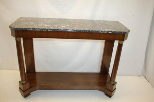 French Empire Hall Console Sofa Table with Marble Top, Circa 1930s'Exceptional!