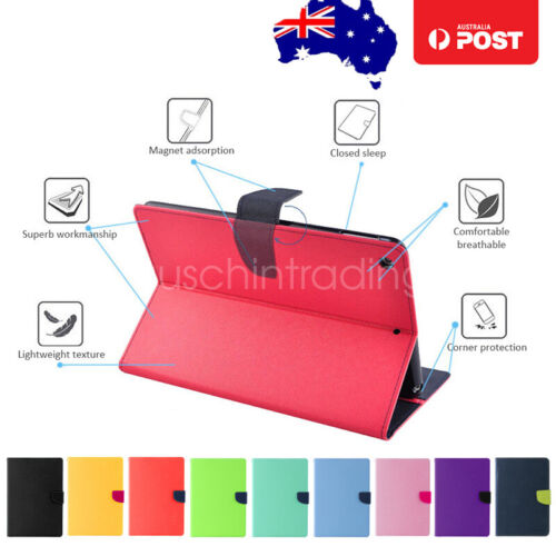 Flip Leather Smart Case Cover for Apple iPad 6 5 iPad 4 3 2 with Card Note Slots