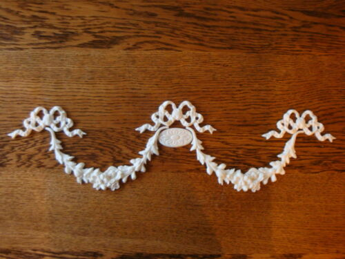 FLORAL SWAGS  BOWS/MEDALLION Appliques Architectural Furniture Onlay Mount