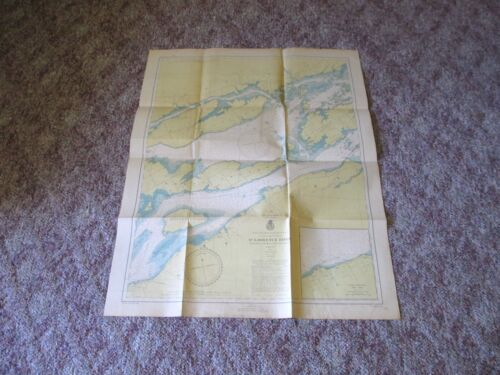 1946 War Dept St Lawrence River Map Cape Vincent Clayton NY Engineer Corps #1