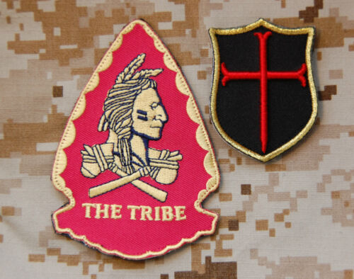 SEAL Team 6 NSWDG Replica Red Squadron Assault Team & 3D Mini Crusader Patch SetReproductions - 156470