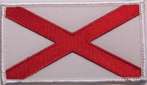 ALABAMA STATE FLAG PATCH - SAINT PATRICK'S CROSS - DIXIE Other Militaria - 135