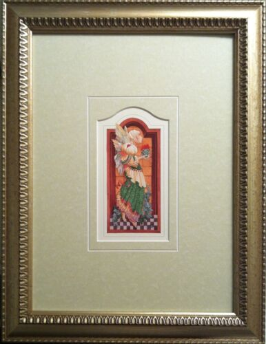 """Framed """"The Angel's Gift"""" Print by Artist James Christmas  with design cut mat"""
