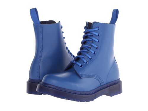 Dr. Martens  Women's 1460 Pascal Blue Vintage Smooth Mono Boots US 8 EU 39 UK 6