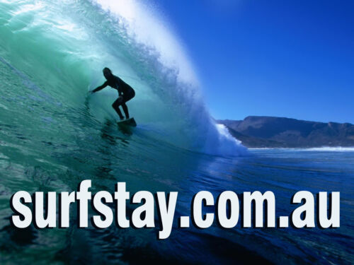 SURFSTAY.COM.AU DOMAIN NAME SURFBOARD SURF ACCOMMODATION SURF TRIP HOLIDAY