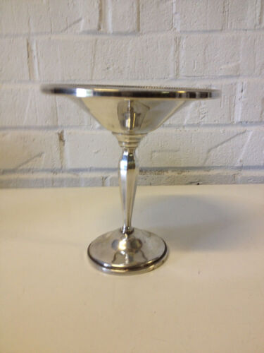 Vintage Hunt Silver Co. Sterling Silver Weighted Compote 501 Braided Style Rim