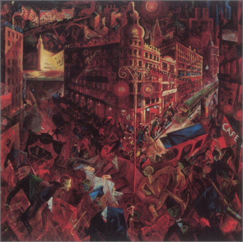 The City  by George Grosz  Giclee Canvas Print Repro