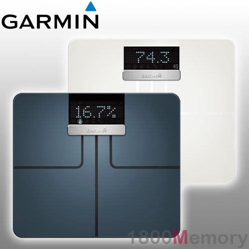 Garmin Index Smart Scale, Wi-Fi Digital Scale, Recognizes Up to 16 Users, Up to 9 Months of Battery Life, Black