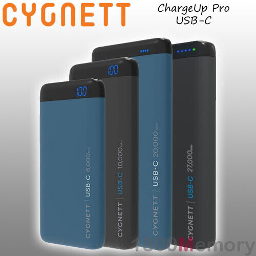 GENUINE Cygnett ChargeUp Pro USB-C Power Bank Portable Battery PD Type C QC 3.0