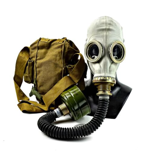 Soviet Russian USSR Military Gas mask GP-5 black hose respiratory surplus NEWMasks - 70985