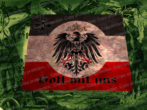 WWI German Patriotic Mouse Pad 1914/18 World War 1 God with Us German Eagle Medals, Pins & Ribbons - 156396