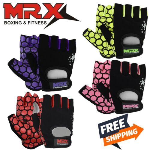 Women Weightlifting Gloves Gym Fitness Training MRX Ladies Short Finger Gloves