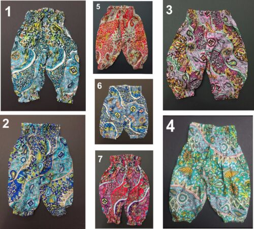 GIRLS TODDLER BABY KIDS PAISLEY HAREM GENIE PANTS SIZE 0 1 2 3 4 Age 1 2 3 4 5 6