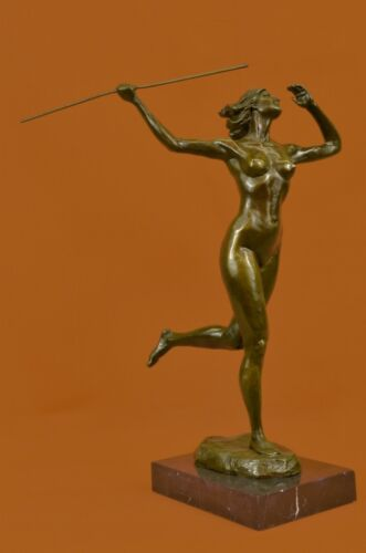 Handcrafted bronze sculpture SALE The Diana Nude Artist Italian Original Signed