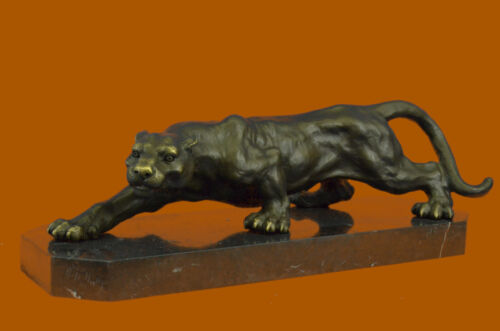 LARGE BRONZE STATUE SCULPTURE LION PANTHER TIGER PUMA COUGAR BIG CAT AFRICAN