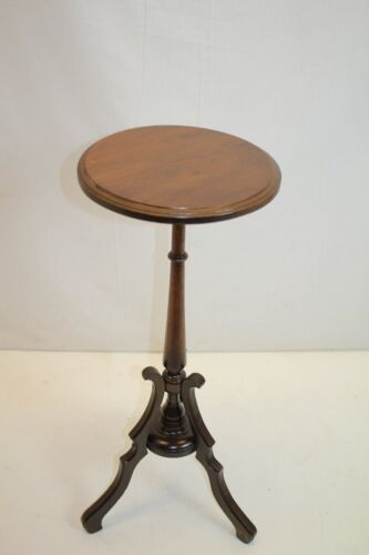 Antique Victorian Walnut Candle Stand, Side Table, Circa 19th