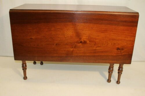 Federal Solid Walnut Drop Leaf Dining Table, 2 Total Available, 19th C.