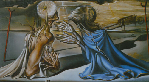 Tristan and Isolde  by Salvador Dali  Giclee Canvas Print Repro