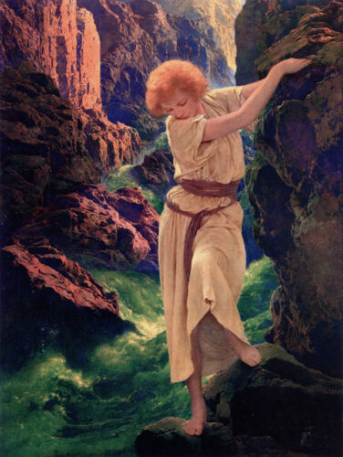 The Canyon  by Maxfield Parrish   Giclee Canvas Print Repro