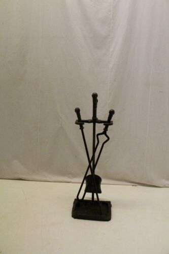 Antique Arts & Crafts Style Cast Iron Fireplace Tools By Peerless