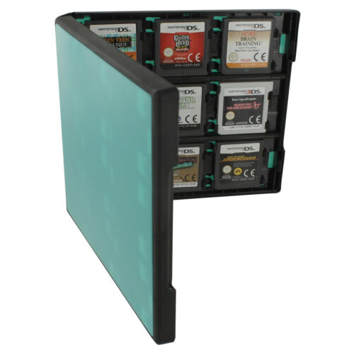 Assecure 18 game card case for Nintendo 3DS & DS holder storage box - turquoise