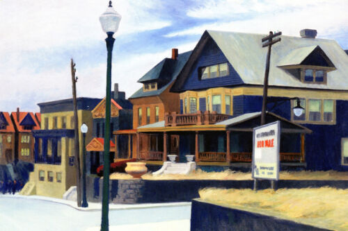 East Wind over Weehawken  by Edward Hopper   Giclee Canvas Print Repro