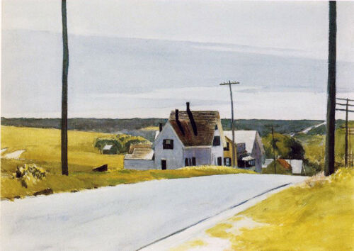 High Road  by Edward Hopper   Giclee Canvas Print Repro