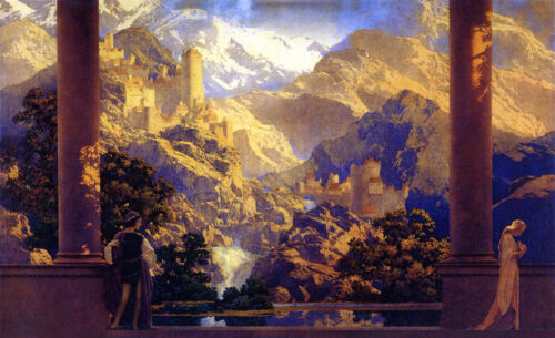 Romance  by Maxfield Parrish   Giclee Canvas Print Repro