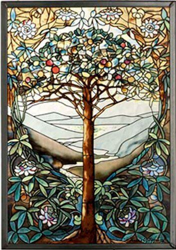 MI Hummel/Glassmasters 9-1/4 by 13-1/4-Inch Tree of Life Stained Glass Panel, Ne