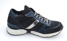 RICHMOND SCARPA SNEAKER UOMO - MAN SHOES NERO+BLU   BLACK+BLUE 5226 NO  SCATOLA b629de0670d