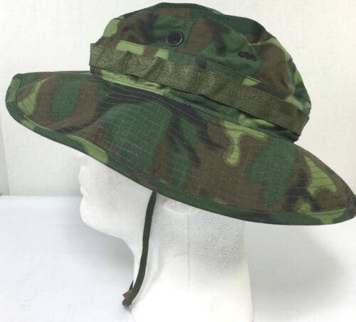 ERDL Camouflage Boonie Hat- Genuine- 7 1/8 MINTHats & Helmets - 36062
